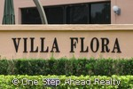 sign for Villa Flora